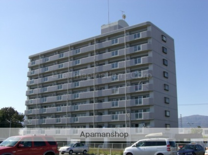 滋賀県高島市、安曇川駅徒歩5分の築25年 9階建の賃貸マンション