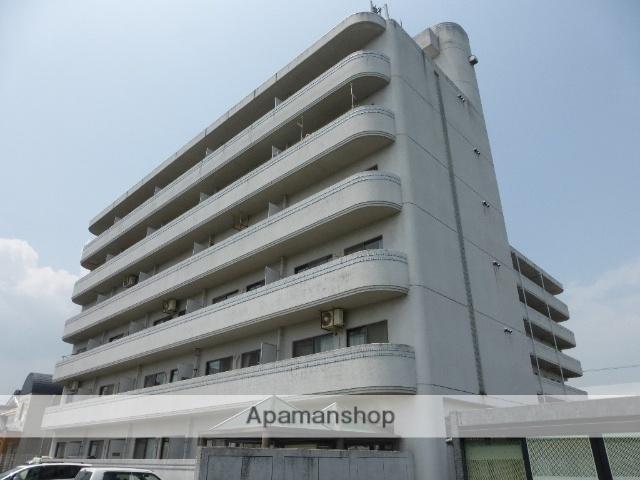 滋賀県高島市、安曇川駅徒歩2分の築26年 6階建の賃貸マンション