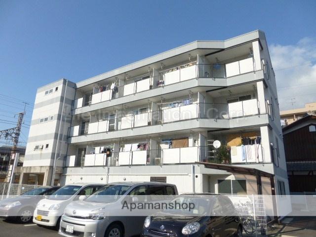 滋賀県大津市、南草津駅徒歩43分の築27年 4階建の賃貸マンション