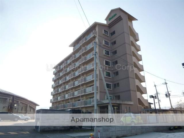 滋賀県高島市、安曇川駅徒歩5分の築20年 8階建の賃貸マンション