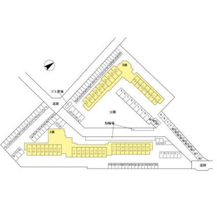 滋賀県彦根市竹ケ鼻町[1K/25.2m2]の配置図