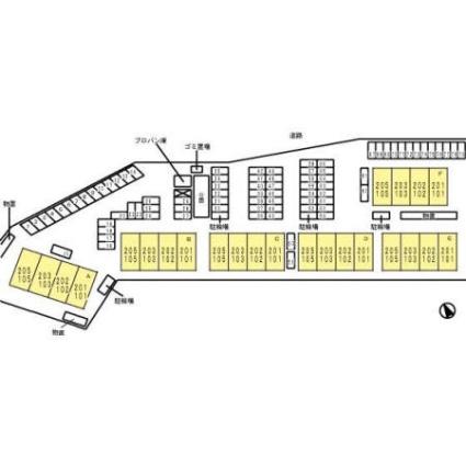 滋賀県彦根市高宮町[2LDK/55.44m2]の配置図