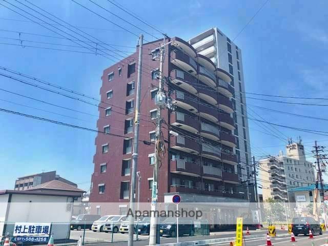 滋賀県野洲市、野洲駅徒歩2分の築18年 8階建の賃貸マンション