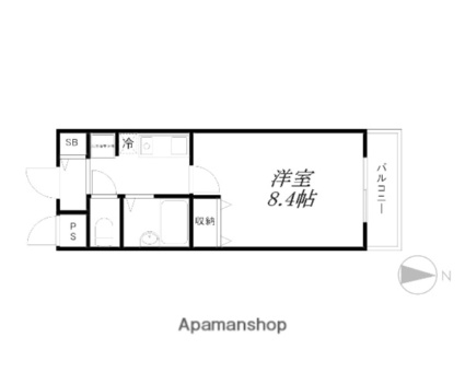 KYOマンション[1K/24.2m2]の間取図