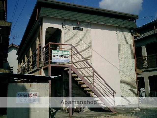滋賀県草津市、栗東駅徒歩28分の築42年 2階建の賃貸アパート