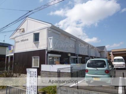 滋賀県東近江市、京セラ前駅徒歩25分の築25年 2階建の賃貸アパート