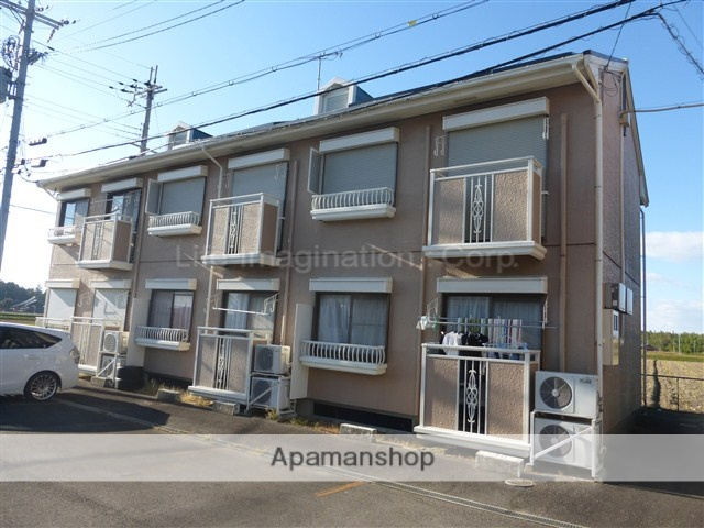 滋賀県東近江市、桜川駅近江バスバス5分市子殿停下車後徒歩5分の築23年 2階建の賃貸アパート