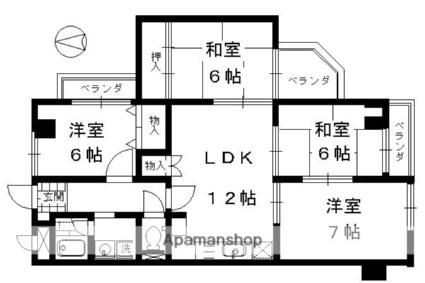 インペリアル京都[4LDK/79.7m2]の間取図