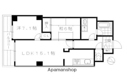 パインフィールド吉祥院[2LDK/62.59m2]の間取図