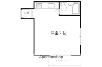 京都府京都市東山区森下町[1R/16.82m2]の間取図