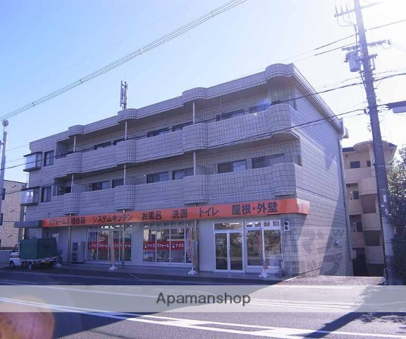 京都府向日市、長岡京駅徒歩25分の築28年 3階建の賃貸マンション