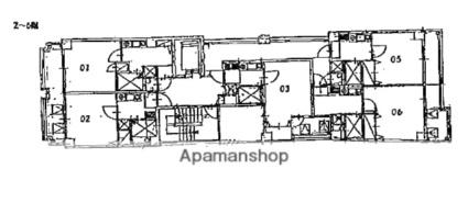 メゾンドソフィア[1K/20.06m2]の配置図