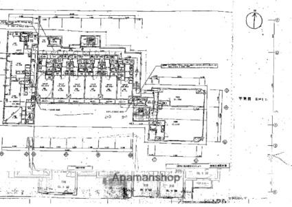 クリスタルグランツ京都高辻[1K/29.9m2]の配置図