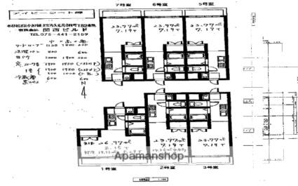 アイビーコート錦[1K/23.77m2]の配置図