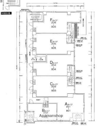 リーガル京都堀川五条通り[1LDK/44.66m2]の配置図