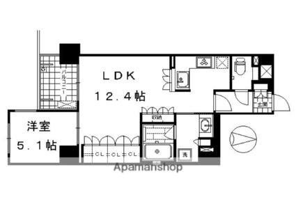 リーガル京都堀川五条通り[1LDK/44.66m2]の間取図