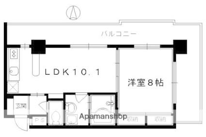 ヴァンボヌール[1LDK/42.17m2]の間取図
