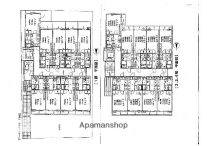 アークリード洛北[1K/22.5m2]の配置図