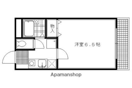 メゾン・ド・楓光Ⅲ[1K/20.34m2]の間取図