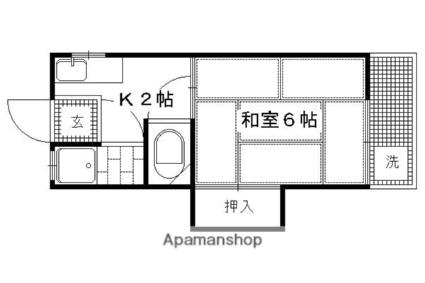 ハイツ吉田[1K/19m2]の間取図