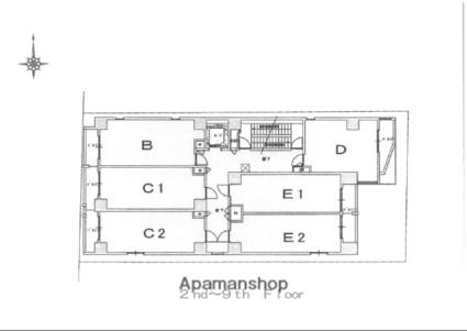 フォレスト西大路五条[1K/25.44m2]の配置図