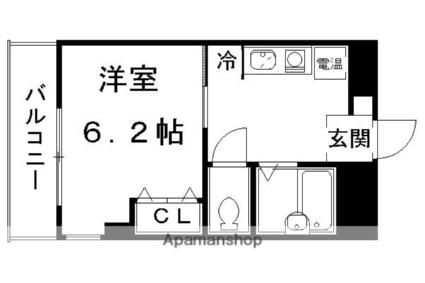協栄寮[1K/19.51m2]の間取図