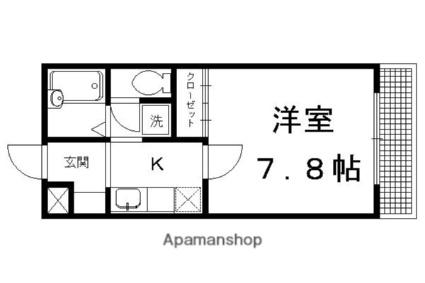 ラ・ヴィ松ヶ崎[1K/25m2]の間取図