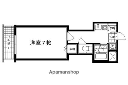 京都府京都市中京区天守町[1K/22.44m2]の間取図