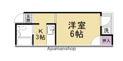 コーポ田中[1K/15.67m2]の間取図