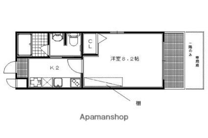 京都府京都市左京区田中里ノ内町[1K/23.93m2]の間取図