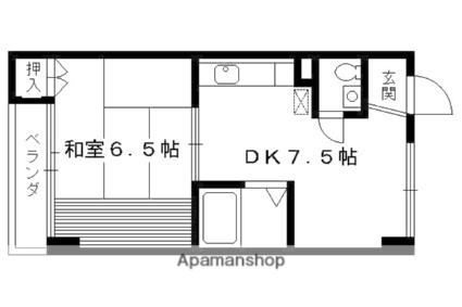 京都府京都市右京区常盤村ノ内町[1DK/30m2]の間取図