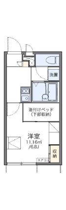 レオパレス嵯峨野[1K/20.28m2]の間取図