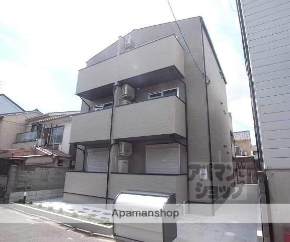 京都府京都市右京区、花園駅徒歩2分の新築 3階建の賃貸アパート