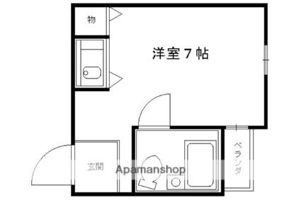 マンションチトセ[1K/16m2]の間取図