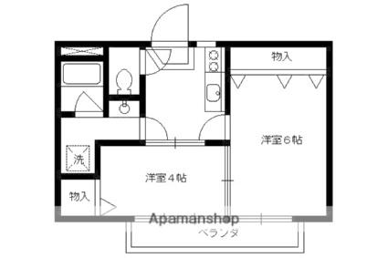 和田マンション[2DK/30m2]の間取図