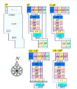 京都府京都市下京区傘鉾町[1K/26.02m2]の配置図