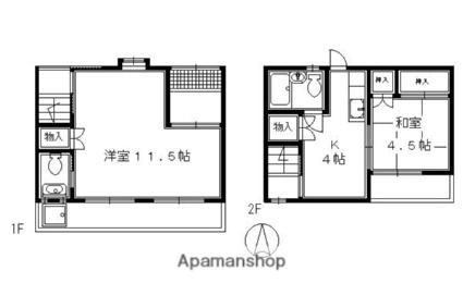 東山区大和町貸家15[2K/50.29m2]の間取図