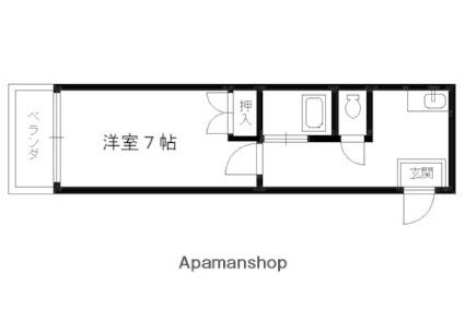 セカンドコンフォート[1K/19.6m2]の間取図
