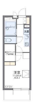 レオパレスプレミエ エトワール[1K/19.87m2]の間取図