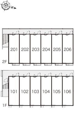 レオパレス蜂ヶ岡[1K/19.87m2]の内装2