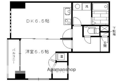 京都府京都市下京区西七条南東野町[1DK/36.14m2]の間取図