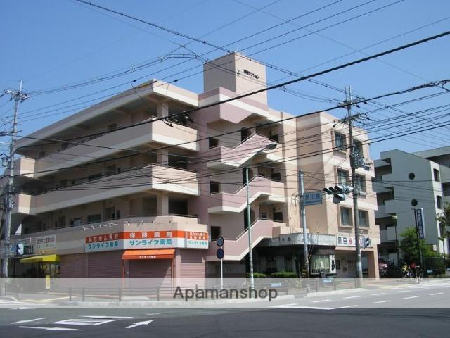京都府八幡市、八幡市駅徒歩43分の築35年 4階建の賃貸マンション