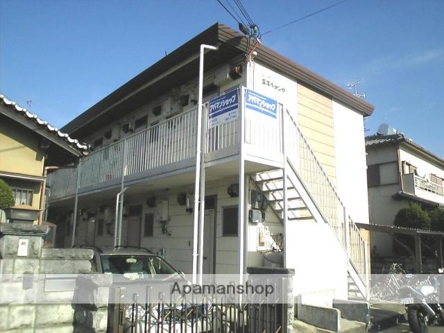 京都府京田辺市、JR三山木駅徒歩19分の築28年 2階建の賃貸アパート