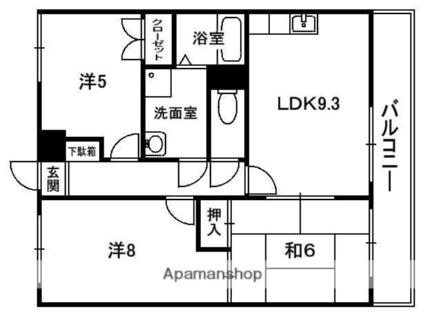 京都府京田辺市大住責谷[3LDK/57.51m2]の間取図