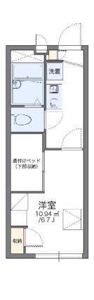 レオパレスサンシャイン98[1K/19.87m2]の間取図