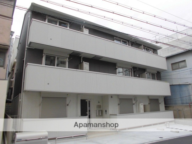 大阪府大阪市中央区、鶴橋駅徒歩14分の新築 3階建の賃貸アパート