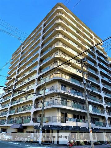 大阪府大阪市中央区、天満橋駅徒歩3分の築43年 13階建の賃貸マンション