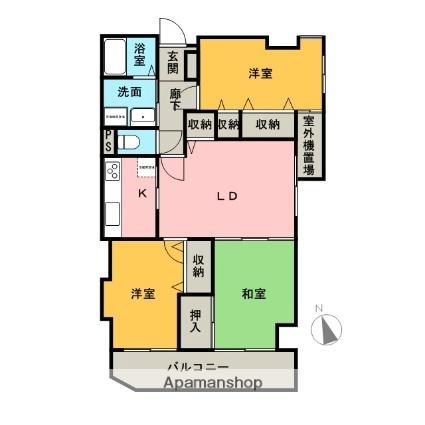 ライオンズマンション和歌山船戸[3LDK/65.53m2]の間取図