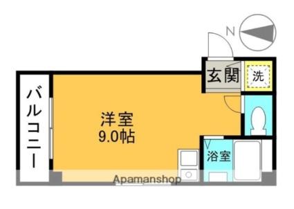大阪府高槻市富田丘町[1R/20.64m2]の間取図