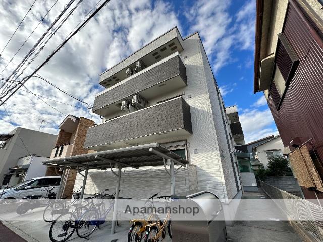 大阪府東大阪市、若江岩田駅徒歩17分の新築 3階建の賃貸アパート
